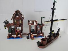 79013 Lake-Town Chase (Artanis I) Tags: lego thehobbit laketown 79013 thedesolationofsmaug legothehobbit laketownchase