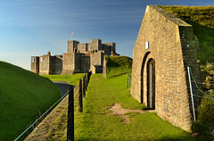 Dover Castle (Beardy Vulcan) Tags: november autumn england castle fall port coast kent seaside day resort clear dover dovercastle 2013