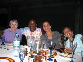 Enjoying at meal at the Nyumba