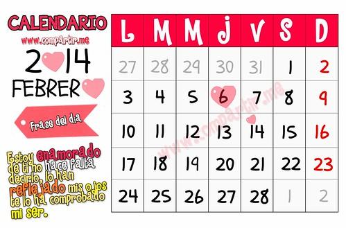 Frases De Amor Calendario 14 De Febrero 2014 Mes De Los