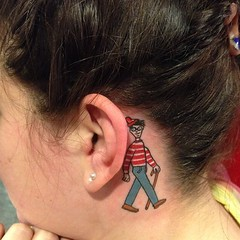 Where's Waldo tattoo by Wes Fortier - Burning Hearts Tattoo Co. 1430 Meriden Rd.  Waterbury, CT