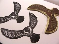 bird stamp (craftyhag) Tags: blackandwhite bird art fly wings flight land printmaking linocut blockprint rubberstamp soar