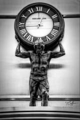 Tiffany's Atlas (Tony Coffman) Tags: monochrome statue hdr downtownportland photomatixpro singleexposurehdr ononesoftware nikkorafsdx18200mmf3556gedvrii lightroom5 nikond7100 photoshopcc perfectbw8 downtownportlandlightroom5nikond7100