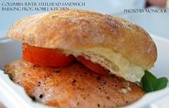 Steelhead Sandwich (Barking Frog Mobile Kitchen) (monyb_) Tags: steelhead foodtruck barkingfrog