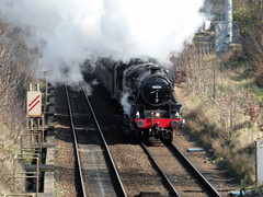 Buxton Spa Express 2014 (Dave_Johnson) Tags: train sheffield steam dore southyorkshire totley 45231 black5 totleytunnel 44871 buxtonspaexpress