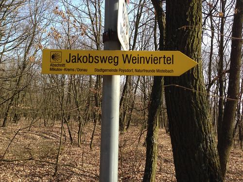 Jakobsweg Weinviertel sign