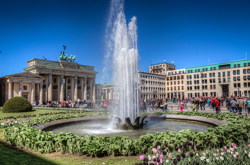 Fountain at Brandenburger Tor
