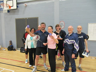 Some of the players from our Spring 2014 adult badminton coaching course