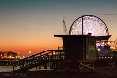 Santa Monica (skippys1229) Tags: california longexposure sunset beach canon rebel pier sand santamonica pacificocean ferriswheel amusementpark southerncalifornia santamonicapier lifeguardstand lifeguardhut 2013 rebelt1i t1i canonrebelt1i