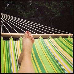 Grateful for my brand new green striped cotton hammock! #365grateful , day 135