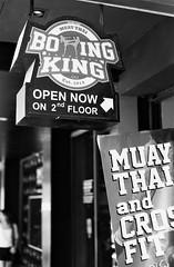 Boxing King - Siam Sq Bangkok (35mm) (jcbkk1956) Tags: blackandwhite film analog 35mm thailand mono bangkok manual boxing gym tones siamsquare muaythai worldtrekker