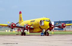 F-ZBAD - 1956 build Douglas DC-6B, frame in fire training use  at Fairbanks, AK during 2014 (egcc) Tags: paris douglas waterbomber 62 lbg 1304 dc6 696 lebourget dc6b 45066 lfpb securitecivile ca035 fzbad ca022 n93115 n4390x 5uaaf