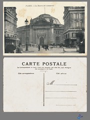 PARIS - La Bourse du Commerce (bDom) Tags: paris 1900 oldpostcard cartepostale bdom