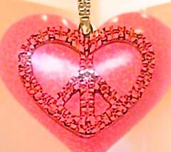 Peace and love for Valentine's Day! Peace symbol inside a heart necklace.  See more detailed description below for background image. (ArtsySFMarjie) Tags: sf camera love make sign hospital hearts photo necklace big san francisco war day peace heart valentine lobby worldwide valentines app valentinesday 5x5 fused peacesymbol happyvalentines makelovenotwar heartsofsanfrancisco fusedtogether kpsf iphoneappfused