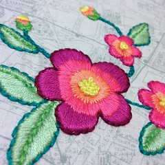 Flower Embroidery (staceyomalley) Tags: flower handmade embroidery stitching photostream embroideryfloss handstitching