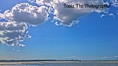 People in the Distance (faaiz2013) Tags: ocean africa blue sea sky beach clouds tanzania peace daressalaam silence posta tranquillity vast