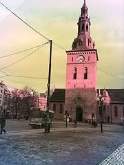Oslo Cathedral (C.Bry@nt) Tags: street apple church oslo norway norge calle gate cathedral catedral iglesia norwegian gata noruega nordic akershus trams scandinavian iphone tranvia kirke norsk trikk norske skandinavia