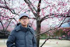 /Tuesday (Nazra Zahri) Tags: winter portrait man adam k japan garden asian japanese nikon raw plum 85mm husband nikkor okayama saidaiji  85mmf18d kanzaki d700 vscofilm