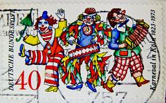 great stamp Germany 40 pf. (carnival, Klner Karneval 150th anniversary Cologne Fasching Kln Mardi Gras) Briefmarke selo sellos bollos timbres Allemagne   Colonia Klng  kunghunji Germany stamps 40 pf. Allemagne Alemanha Alemania Duitsla (stampolina) Tags: red green rot postes germany rouge rojo comic stamps cologne kln vert stamp vermelho collection porto colonia komik grn mardigras timbre rood rosso allemagne fasching carneval gruen postage franco karneval duitsland stempel revenue merah marke selo marka allemand sello sellos bollos  bundesrepublikdeutschland sammlung punainen  briefmarken rouges czerwony pulu briefmarke francobollo selos pfennig timbres  timbreposte francobolli bollo frg  federalrepublicofgermany     kunghunji  frankatur postapulu  klng jyu