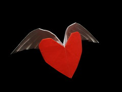 winged Heart (Al3bbasi.) Tags: love paper origami heart valentines winged valentinesday wingedheart kamiyasatoshi al3bbasi