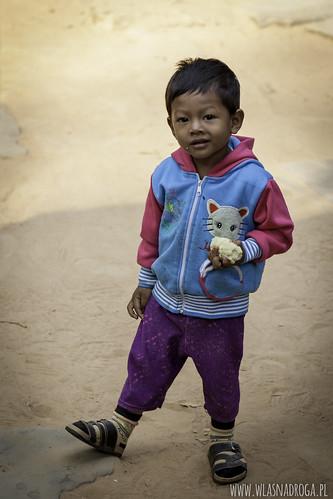 Cłopiec spotkany w Angkor Wat