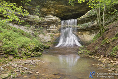 Porter Falls (Kenneth Keifer) Tags: longexposure trees cliff motion blur nature water beautiful rural creek forest underground landscape flow waterfall spring woods sandstone whitewater stream scenic rocky indiana blurred owencounty limestone cavity cave flowing subterranean picturesque cascade cavern idyllic tranquil cataract secluded plunge wooded gosport morgancounty plunging portercave portersfalls porterfalls porterscave