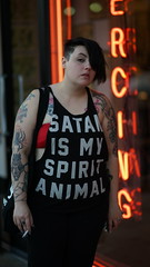 Spirit Animal (beardedphotog) Tags: tattoo downtown smoking ybor tattooshop funnyshirt