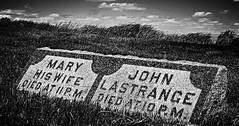 one hour... (BillsExplorations) Tags: blackandwhite monochrome cemetery grave graveyard rural vintage illinois country historic gravestone marker coleta onehour hazelgreen lastrange whitesidecounty