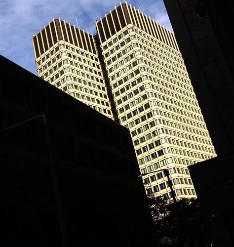 Got to kick at the darkness 'til it bleeds daylight, Boston #brucecockburn #cockburn #jfk #kennedy #governmenrcenter #federalbuilding #twintowers #shadows #brutalistarchitecture #brutalism #brutalist #architecture #architectureporn #art #artsy #artist #ar
