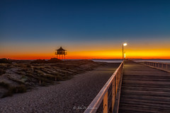 Just another Semaphore Sunset (johnwilliamson4) Tags: blue orange beach water outdoor jetty australia adelaide southaustralia lifeguardtower semaphoresunset