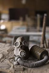 Learn from your mistakes (Kriegaffe 9) Tags: school mask classroom bokeh ukraine creepy gasmask chernobyl pripyat
