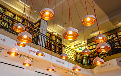 Enlightenment (DobingDesign) Tags: lighting light london lines library text indoor books lookingup knowledge names shelves interiorarchitecture thewellcometrustlibrary