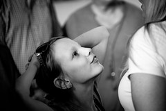 Seducing your mother (Hans Dethmers) Tags: blackandwhite girl monochrome flickr fuji zwartwit mother moeder meisje hansdethmers