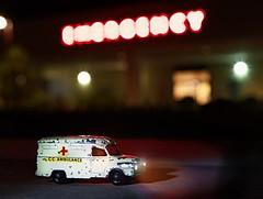 Pulling into the ER (johnsinclair8888) Tags: night nikon ambulance emergency tamron anythinggoes matchbox 2470 tamron2470 macromondays macromonday