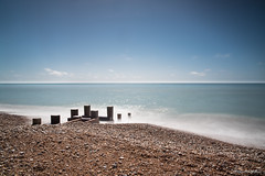 Calm Sea (Jemma Graham) Tags: uk longexposure blue sea england sky colour beach seaside sand waves quiet britain south peaceful lee serene bognorregis ndfilter 10stop leebigstopper may2016