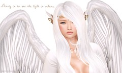 .beauty is to see the light in others. (JasmineStardust) Tags: life light white angel wings pretty magic sl secondlife second