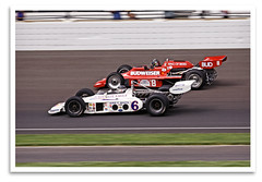 Racy (bogray) Tags: classic car racecar vintage historic restored 1978 lightning preserved 1972 budweiser indy500 cosworth brickyard indianapolismotorspeedway bobbyunser panchocarter legendsday olsoniteeagle