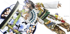 +HILU+MAIKO @ JAPONICA (Kai Wirsing) Tags: hilu japan japonica kimono n astralia tkw c l a vv striped mocha ay