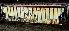 - bones - raket (timetomakethepasta) Tags: bones rr mvp raket tms nova staer krime freight train graffiti rusty grainer nw norfolk western rmgx