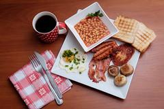 English breakfast (Eat.myphoto) Tags: food english breakfast mushrooms bacon beans toast egg coffe