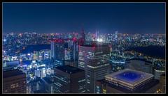 Tokyo Tochou-sha View (Mikedie1) Tags: city blue skyline skyscraper canon eos shinjuku kitlens stadt    hdr wolkenkratzer tokyometropolitangovernmentbuilding docomotower  600d