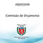 Reuni�o da Comiss�o de Or�amento 06/07/2016