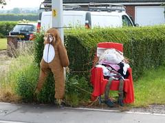 Sad Lion and Birthday Princess (Thomas Kelly 48) Tags: lumix scarecrow panasonic halsall westlancashire fz150 halsallscarecrowfestival