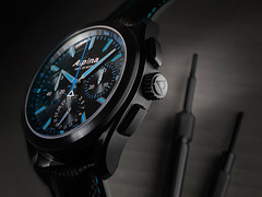 Alpina Watches Alpiner 4 Manufacture Flyback Chronograph ref. AL-760BN5FBAQ6 (Alpina Watches) Tags: blue black shopping geneva watches handmade swiss alpina watch luxury chronograph manufactory manufacture flyback swissmade alpiner alpinawatches alpiner4