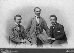 Albert Einstein with friends Conrad Habicht and Maurice Solovine, ca. 1903 [4246  3056] #HistoryPorn #history #retro http://ift.tt/1XNAPAT (Histolines) Tags: ca friends history with maurice albert einstein retro timeline conrad 1903 habicht  vinatage 3056 4246 historyporn histolines solovine httpifttt1xnapat