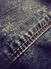 Stripes for Macro Monday (Betsie Nel) Tags: macro lines stripes fabric denim ipad macromondays