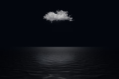 Silence (Explore) (Loris Rizzi) Tags: sea bw cloud blackwhite mare nuvola biancoenero