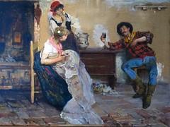 """""""Deux femmes du peuple et un pcheur"""", Alessandro Milesi - Muse de la dentelle, Burano (Yvette Gauthier) Tags: muse venise venezia italie burano musedeladentelle alessandromilesi museodimerletto"""