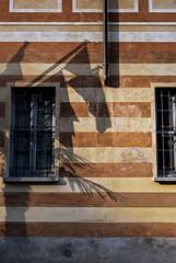 Varenna 0400 (cbonney) Tags: italy lake como architecture italian italia shadows stripes flag villa lombardia lecco varenna lagodicomo lombardy cipressi