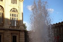 Piazza Castello (angelapace1) Tags: torino tramonto ombra finestra acqua fontana piazzacastello